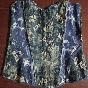 Punk Jean corset